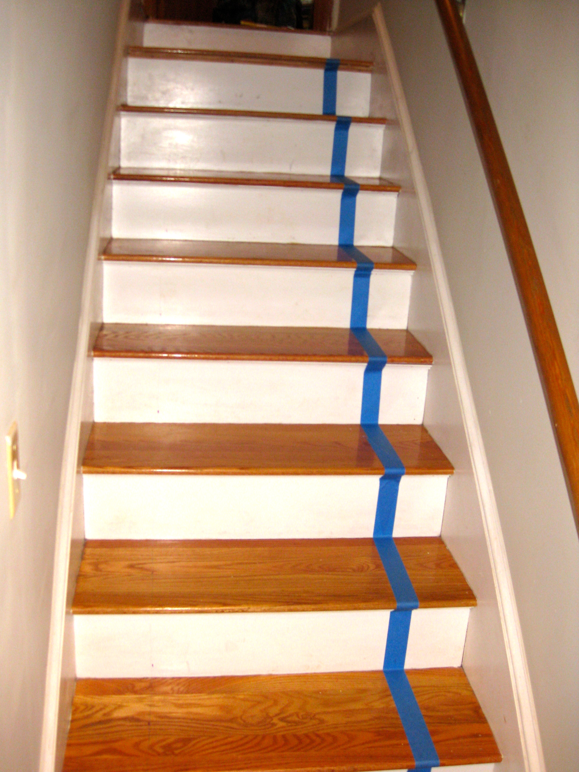 Elegant DIY Faux Stair Runner