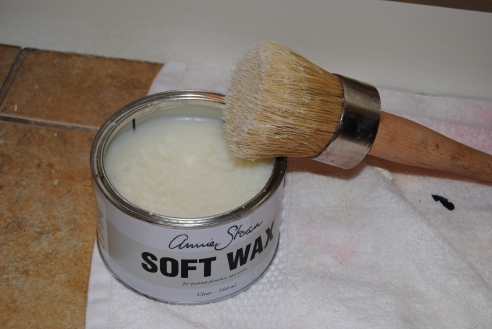 Clear wax and brush