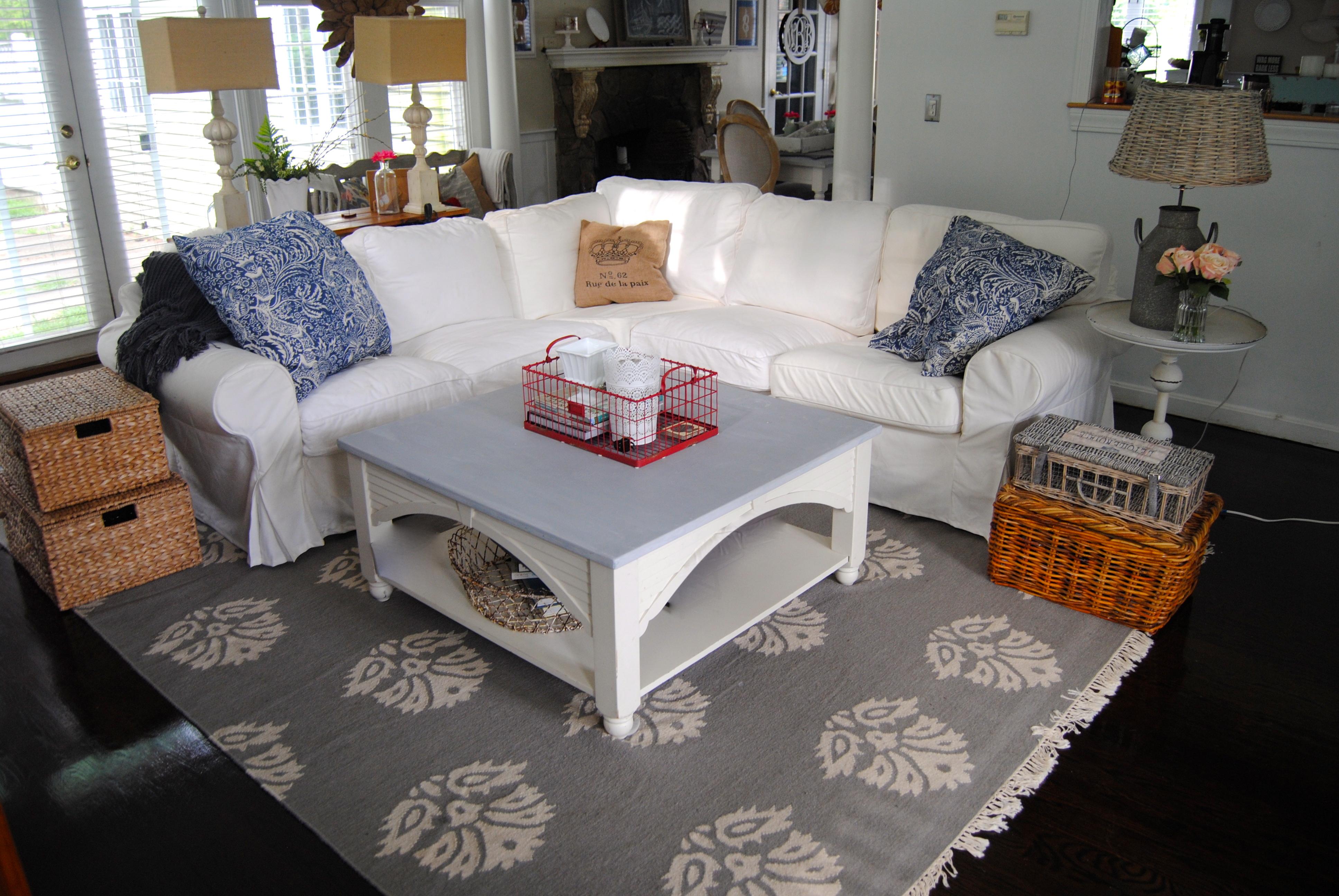 Ikea Ektorp Sectional Slipcover Sofa Finally Our Cape