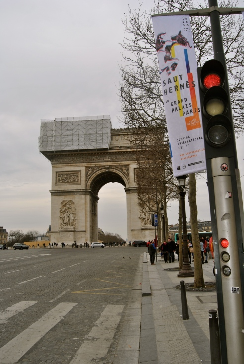 Arc de Triumph with some work being done.